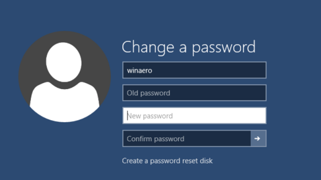 Thay đổi hoặc cài đặt lại mật khẩu trên Windows 10